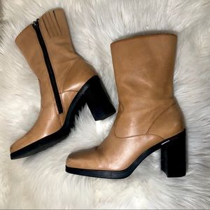 👢Vintage Tommy Hilfiger Leather Square Toe Boots